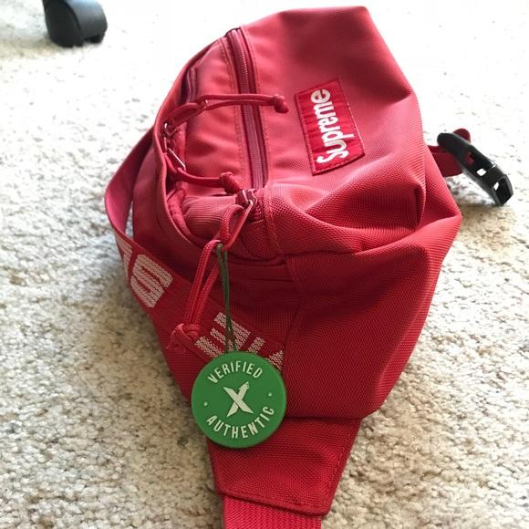 4bd0e75461f Supreme Bags   Ss18 Waist Bag Red Fanny Pack   Poshmark